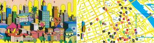 Od lokalsów dla travellersów:[br] kolorowa mapa Warszawy