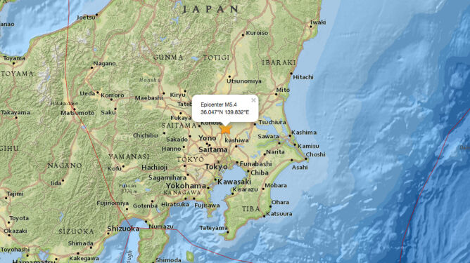 W Japonii zatrzęsła się ziemia